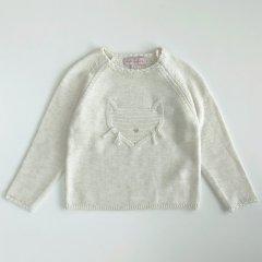 【SALE20%OFF】Lili Gaufrette LOL Blanc d hiver リリ ゴーフレット キャットフェイスセーター(ホワイト)
