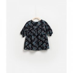 【SALE30%OFF】Play Up Woven Dress 花柄ワンピース(ダークグレー)