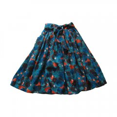 【SALE30%OFF】lulaland BAILEY MAXI SKIRT AFRICAN PINEAPPLES ルラランド マキシスカート(グリーン柄)