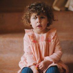 17AW Louise Misha Tunique Ella Chamallow ルイーズミーシャ 裾刺繍チュニック(ピンクベージュ)
