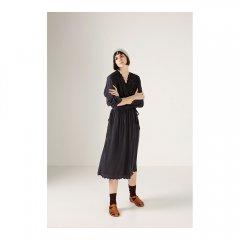 17AW Louise Misha Dress Beldi Acier ルイーズミーシャ ワンピース(ブラック)