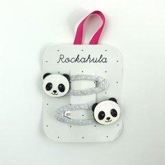 Rockahula Kids PANDA GLITTER CLIPS ロッカフラキッズ グリッターパンダヘアクリップ 2本組