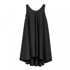 【SALE30%OFF】 little creative factory Dancer!s Dress 012/BLACK リトルクリエイティブファクトリー コットンノースリーブワンピース(ブラック)