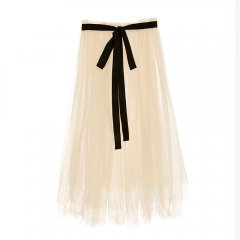 【SALE40%OFF】Little Creative Factory Degas Long Wrap 002/IVORY チュールラップロングスカート(アイボリー)