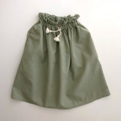 18SS tocoto vintage S02818. CORD LONG SKIRT 009. GREEN トコトヴィンテージ ロングスカート(グリーン)