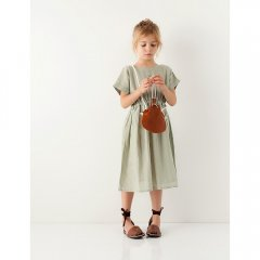 18SS tocoto vintage S3318. COTTON - LINEN DRESS 009. GREEN トコトヴィンテージ コットンリネンワンピース(グリーン)