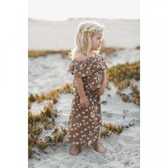 【SALE30%OFF】Rylee & Cru seashell button front midi skirt cocoa ライリーアンドクルー センターボタンミディスカート(ココア)