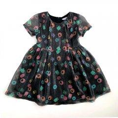 18SS LITTLE MARC JACOBS DRESS BLACK  PINK リトルマークジェイコブス 総柄ドレス(ブラック)