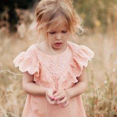 18SS Louise Misha Dress Andotiana Rose ルイーズミーシャ Vフリルワンピース(ローズ)