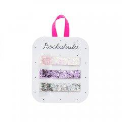 Rockahula Kids GLITTER BAR CLIPS ロッカフラキッズ グリッターバークリップ 3本組(パープル)