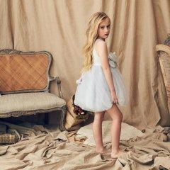 LOVE by Nellystella Blossom Dress Periwinkle Dust Polkadot ブロッサムドレス(ペリウィンクルドット)