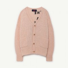 【SALE30%OFF】THE ANIMALS OBSERVATORY RUSTIC PEASANT KIDS CARDIGAN エンブロイダリーカーディガン(ピーチ)