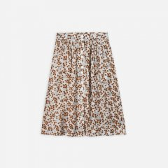 【SALE30%OFF】Rylee & Cru button front midi skirt fower field dove ライリーアンドクルー フロントボタン付きミドルスカート(花柄)