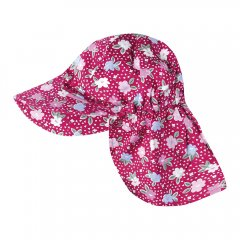 【SALE50%OFF】JoJo Maman Bebe Red Primrase Desert Hat ネックガード付きハット(レッド)