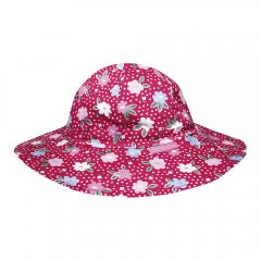 【SALE50%OFF】JoJo Maman Bebe Red Primrose Floppy Sunhat 花柄サンハット(レッド)