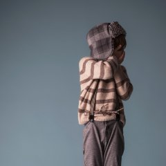 【SALE30%OFF】tocoto vintage STRIPED KNITTED CARDIGAN BROWN トコトヴィンテージ ストライプ柄ニット(ブラウン)
