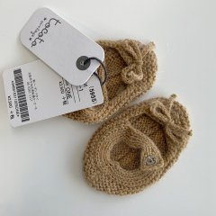 【SALE30%OFF】tocoto vintage KNITTED BABY SHOES MUSTARD トコトヴィンテージ ニットベビーシューズ(マスタード)