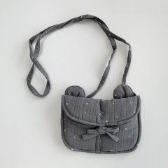 【SALE20%OFF】tocoto vintage STARS BEAR BAG GRAY トコトヴィンテージ くまポシェット(グレー)