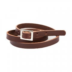 18AW tocoto vintage LEATHER BELT BROWN トコトヴィンテージ レザーベルト(ブラウン)