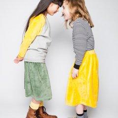 【SALE20%OFF】MINGO velvet Skirt Duck green ミンゴ ベロア地スカート(グリーン)