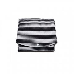【SALE30%OFF】MINGO Jersey Chancing mat stripes / grey ミンゴ チェンジングマット(グレー)