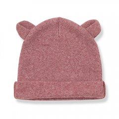 18AW 1+ in the family ABEL bonnet w/ears pruna ワンモアインザファミリー くま耳キャップ(レッド)