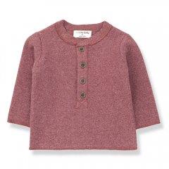 【SALE40%OFF】1+ in the family MATT t-shirt pruna ワンモアインザファミリー ヘンリーネック長袖カットソー(レッド)
