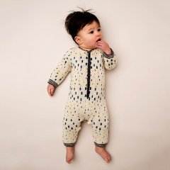 【SALE30%OFF】kidscase  Jules suit off-white キッズケース ニットロンパース(オフホワイト)