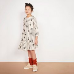 18AW Milk and Biscuits Cat + Dogs Asymmetrical Dress ミルクアンドビスケッツ アシンメトリー長袖ワンピース(ドッグ+キャット)