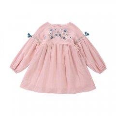 Louise Misha Dress Rozalia Shamallow ルイーズミーシャ 袖フリンジ付長袖ワンピース(ライトピンク)
