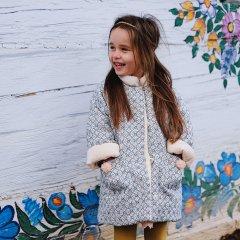 Louise Misha Coat Sinos Blue Sparkle ルイーズミーシャスタンドカラー コート(ブルー)