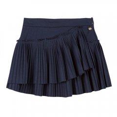 【SALE40%OFF】Lili Gaufrette LAPLISSEE navy リリゴーフレット プリーツスカート(ネイビー)