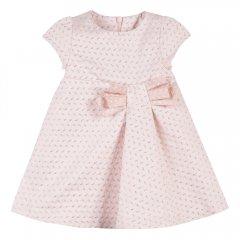 18AW Lili Gaufrette LAJUJU Cuivre リリゴーフレット ジャガードリボン半袖ワンピース(ピンク)