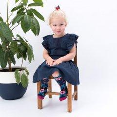 Billy Loves Audrey Garden Knee High Socks - Navy ビリー ラブス オードリーハイソックス(ガーデン/ネイビー)