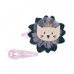 【SALE30%OFF】Billy Loves Audrey Springtime Cat 2Pk Clip Set ビリー ラブス オードリー 猫&チュールリボン ヘアクリップ2点セット