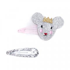 Billy Loves Audrey Princess Mouse 2Pk Clip Set ビリー ラブス オードリー プリンセスマウス&スリーピン ヘアクリップ2点セット