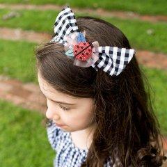 Billy Loves Audrey Ladybug Gingham Tie Headband ビリー ラブス オードリー レディバグ ヘアバンド(ギンガム)