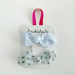 Rockahula Kids SPRINKLES BOW CLIPS BLUE ロッカフラキッズ リボンヘアクリップ2本組(ブルー)