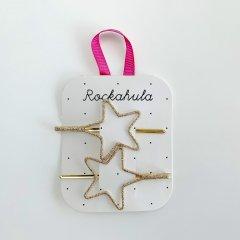 Rockahula Kids CUT OUT STAR SLIDES GOLD ロッカフラキッズ グリッタースターヘアクリップ2本組(ゴールド)
