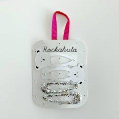 Rockahula Kids LITTLE POLAR BEAR GLITTER CLIPS WHITE ロッカフラキッズ しろくま&グリッターヘアクリップ4本組