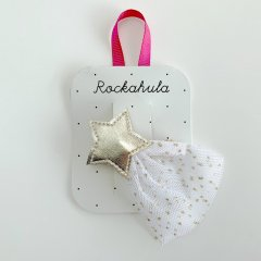 Rockahula Kids SHOOTING STAR BARRETTE CLIP GOLD ロッカフラキッズ チュール流れ星ヘアクリップ(ゴールド)