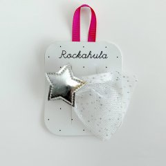 Rockahula Kids SHOOTING STAR BARRETTE CLIP SILVER ロッカフラキッズ チュール流れ星ヘアクリップ(シルバー)