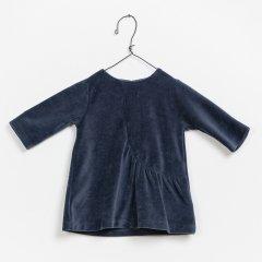 【SALE30%OFF】Play Up Velvet Dress プレイアップ ベロアワンピース(ネイビー)