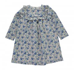 【SALE40%OFF】OLIVIER Ruby Frill Detail Dress Felicite Blue C オリビエ フリル長袖ワンピース(ブルー)