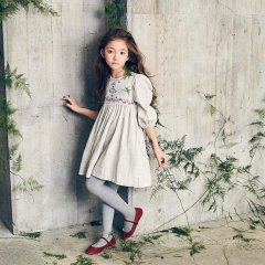 Nellystella Clover Dress Oatmeal ネリーステラ パフ袖ワンピース(オートミール)