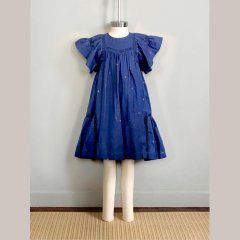 【SALE30%OFF】Nellystella Leila Dress Venture Violet Star ネリーステラ フレアスリーブワンピース(ブルー)