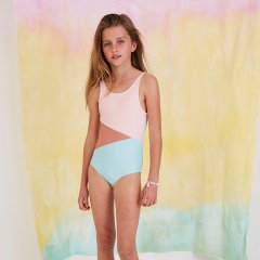 【SALE30%OFF】Softgallery Darlin Swimsuit Block Swim Girl ソフトギャラリー スイムウェア(マルチ)