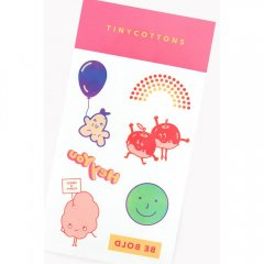 tinycottons BLOCK PARTY tattoos multicolor ブロックパーティ タトゥーシール