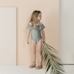【SALE20%OFF】Rylee and Cru seeds off the shoulder onepiece rainforest スイムウェア(レインフォレスト)