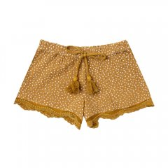 【SALE20%OFF】Rylee and Cru seed scallop short saffron 裾レースショートパンツ(サフラン)
